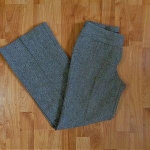 H&M brown tweed look wide leg pant